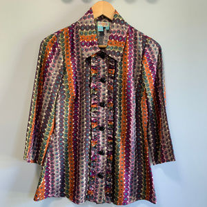 Plenty By Tracy Reese Dotted Silk Ruffles Blouse